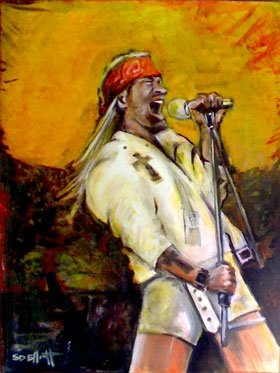 full view of Axl Rose painting