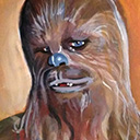 thumbnail of Chewbacca - Feelin' Coy painting