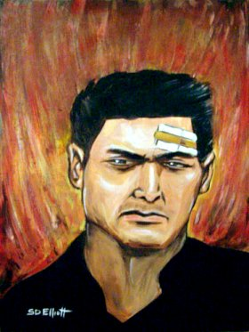 full view of Chow Yun-Fat painting