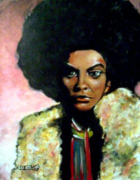 full view of Cleopatra Jones painting