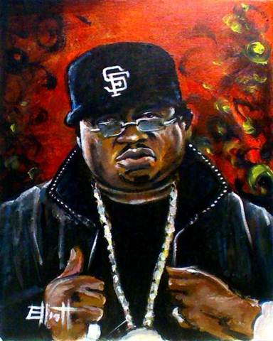 full view of E-40 painting