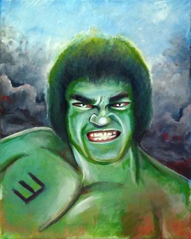 full view of Lou Ferigno - The Original Hulk painting
