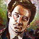 thumbnail of Fox Mulder painting