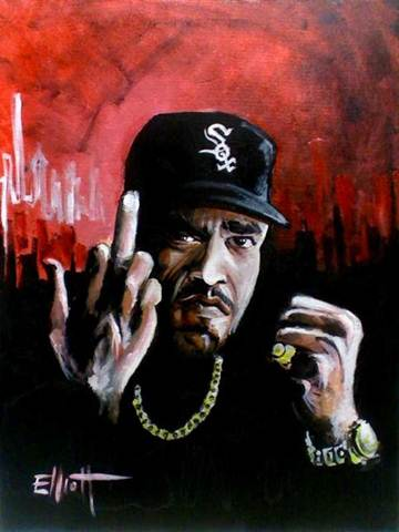 full view of Ice-T painting