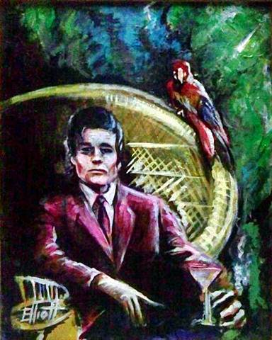 full view of Jack Lord - Drinks With Friends painting