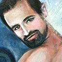 thumbnail of Hugh Jackman - Getting Pumped in the Shower painting