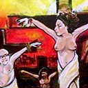 thumbnail of Jesus Streisand painting