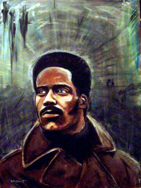 full view of John Shaft painting