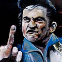 thumbnail of Johnny Cash painting
