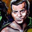 thumbnail of Captain Kirk - First Visit to Orion painting