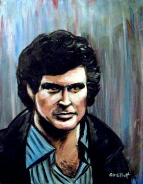 full view of Michael Knight painting