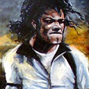 thumbnail of Michael Jackson - Moonwalker painting