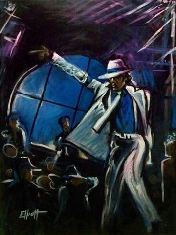 full view of Michael Jackson - Smooth Criminal painting
