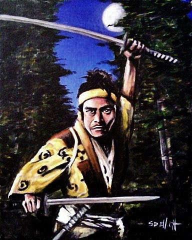 full view of Musashi - the Last Samurai painting