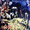 thumbnail of Nine Lives no. 5 - Death by Dragon Indigestion painting