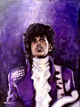 full view of Prince painting