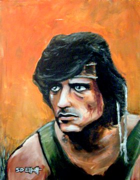 full view of Rambo painting
