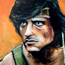 thumbnail of Rambo painting