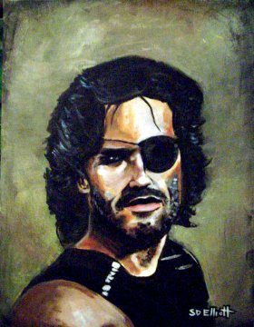 full view of Snake Plissken painting