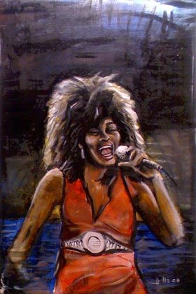 full view of Tina Turner painting
