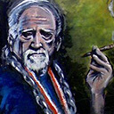 thumbnail of Willie Nelson painting