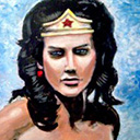thumbnail of Wonder Woman painting